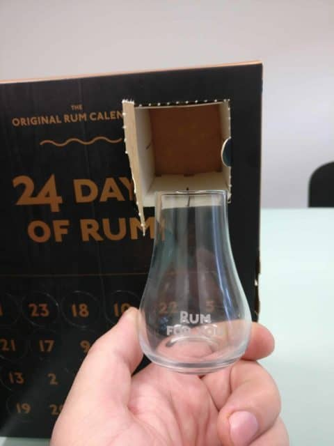 Degustační sklenička pro rumový adventní kalendář