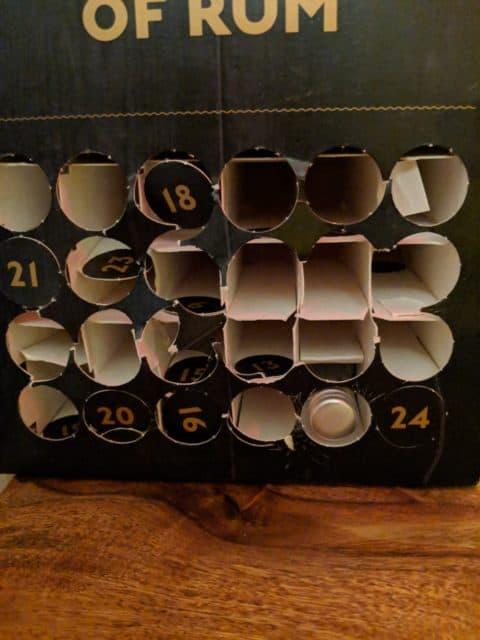 Vypitý rumový kalendář
