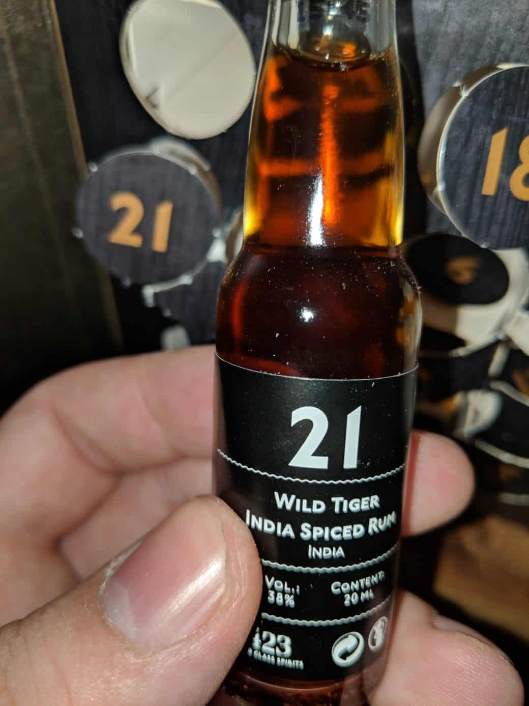 Degustační lahvinka Wild Tiger India Spiced Rum