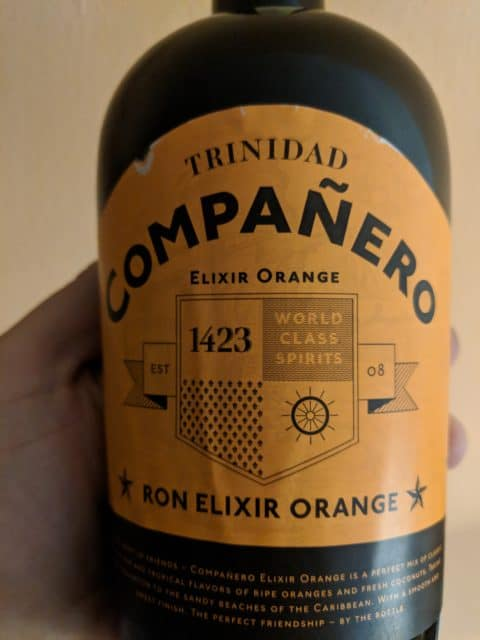 Ron Compaňero Elixir orange - láhev detail