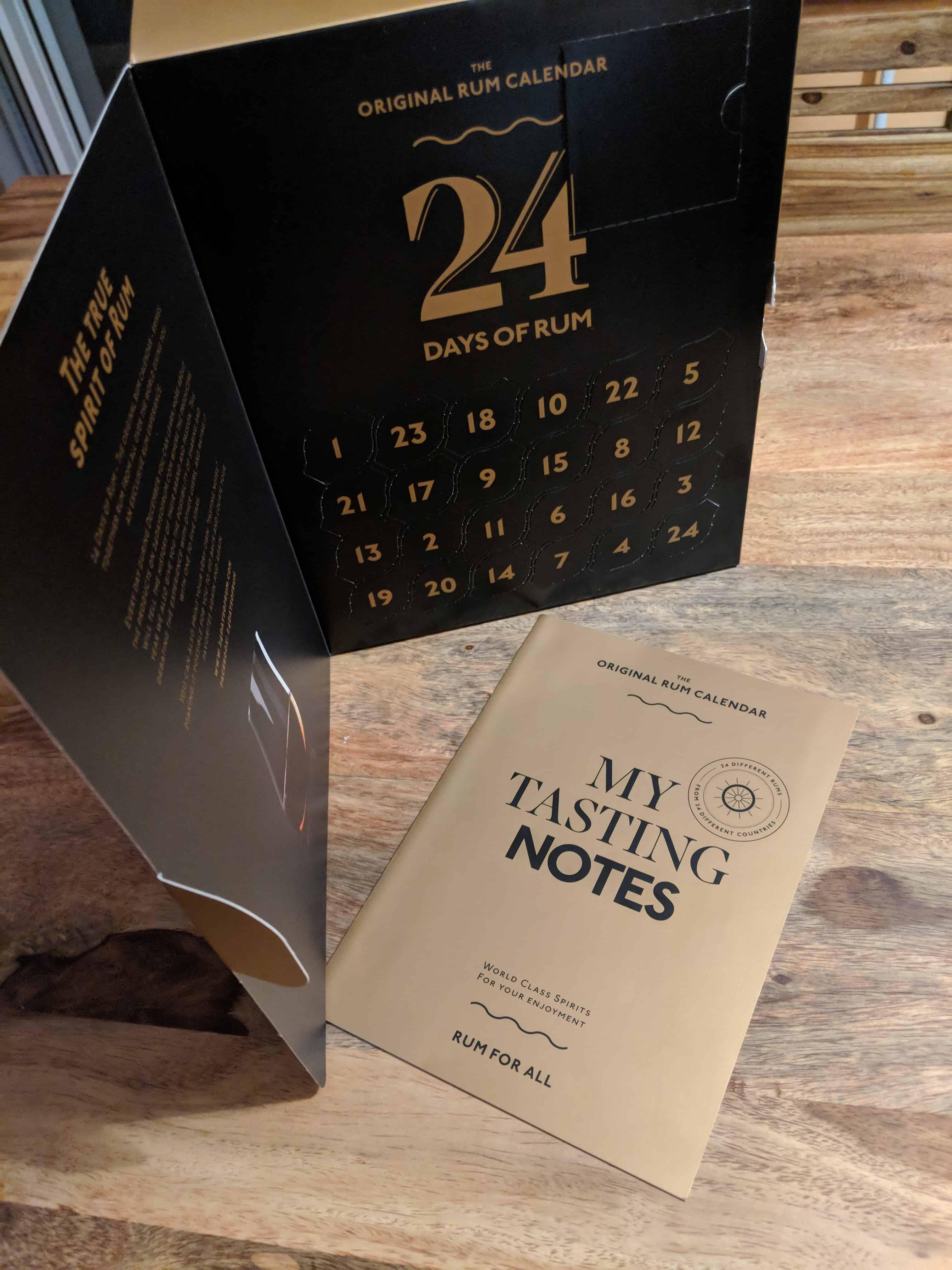 Rumový kalendář 2018 a tasting notes