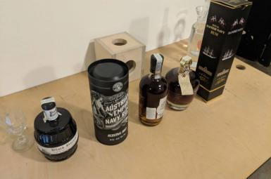 Rumová námořnická degustace na narozeninovém večírku Freelo