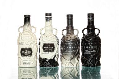 Srovnání všech čtyř limitovaných edicí Kraken ceramic bottle