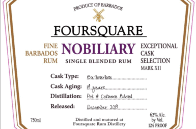 Nový 62 % rum Nobiliary od Foursquare