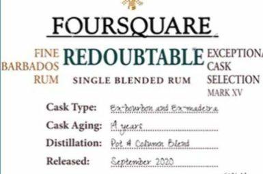 Foursquare rum Redoubtable